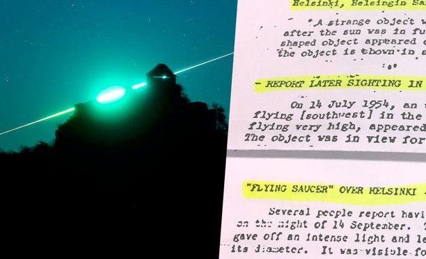 CIA:n asiakirjoissa mainitaan useita Suomessa tehtyjä ufohavaintoja. Taustalla arkistokuva Unkarissa nähdystä meteoriitista vuodelta 2015.