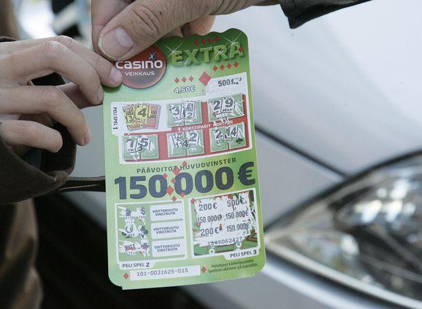 Arkistokuva Casino-arvasta, jossa oli 150 000 euron voitto.