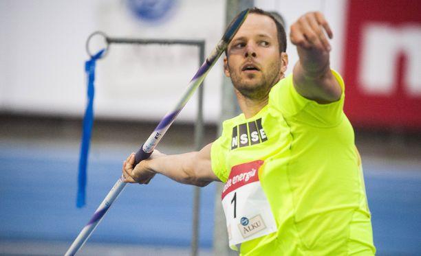 Tero Pitkämäki voitti Timanttiliigan osakilpailun Monacossa tuloksella 88,87. Kuva kesäkuulta.
