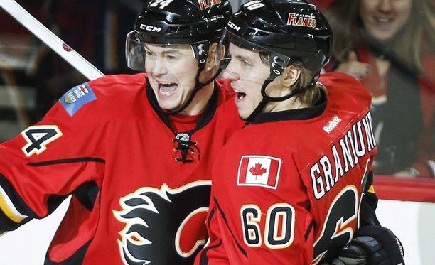 Markus Granlund on tehnyt toisella NHL-kaudellaan kahdeksan maalia.