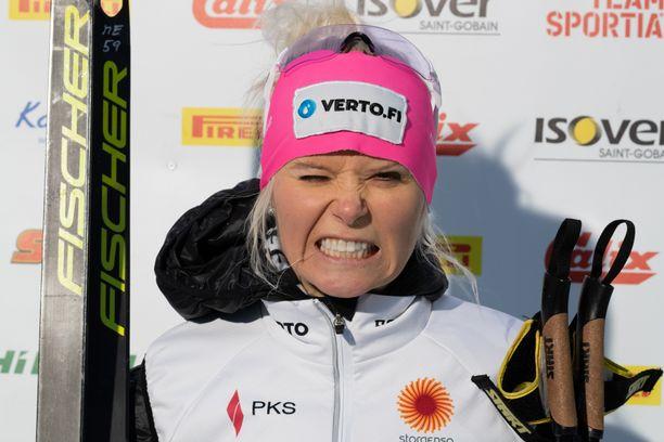 Mari Eder on irvistellyt pitkin talvea, kun ongelmia on piisannut sekä hiihdossa että ampumahiihdossa.