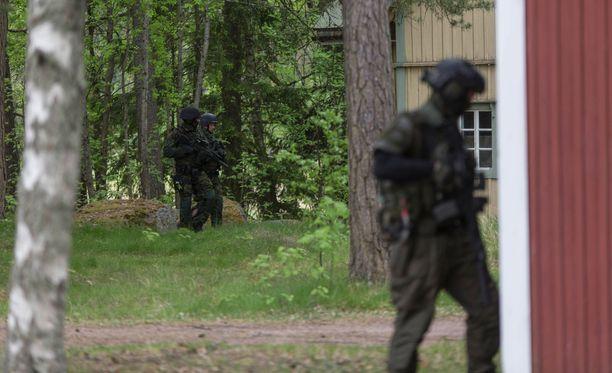 Alueella oli käynnissä mittava poliisioperaatio.