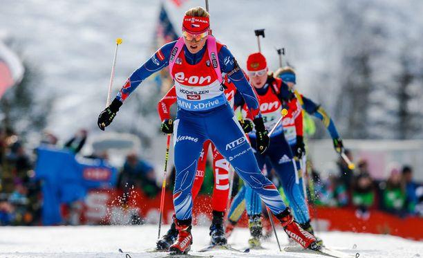 Gabriela Soukalova liihotteli voittoon.