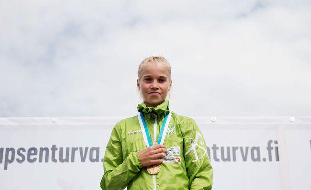 Alisa Vainio juoksi taas oman ennätyksensä. Arkistokuva.
