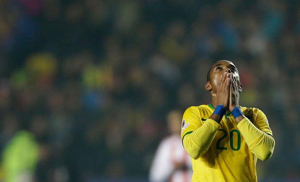 Robinho edusti Brasiliaa Copa Americassa.