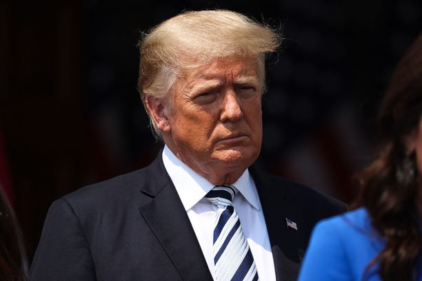 BEDMINSTER, NEW JERSEY - JULY 7: 45th President of the United States, Donald J. Trump speaks during a press conference at the Trump National Golf Club in Bedminster of New Jersey, United States on July 7, 2021. Tayfun Coskun / Anadolu Agency/ABACAPRESS/ddp images