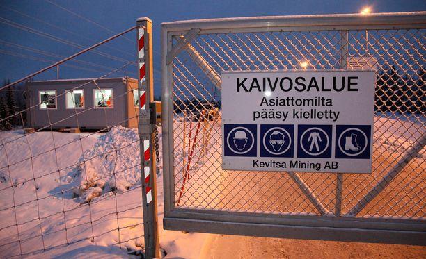 Kevitsan kupari- ja nikkelikaivos sijaitsee Sodankylässä.