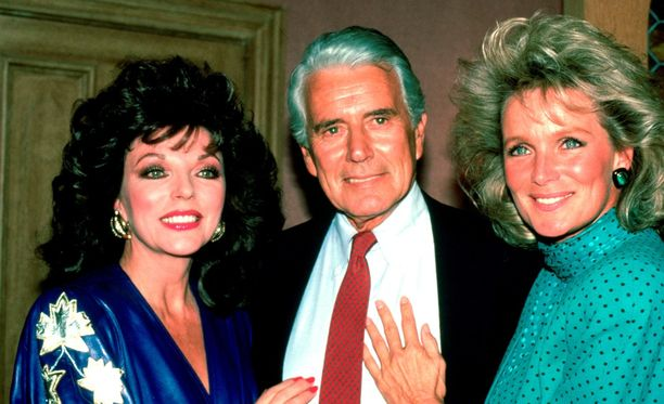 Joan Collins, John Forsythe ja Linda Evans Dynastia-sarjasta.
