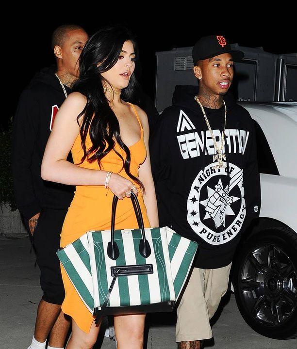 Kylie Jennerin ja Tygan suhde vaikuttaa jatkuvan. Kuva otettu perjantaina Los Angelesissa.