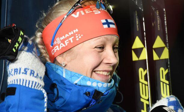 Kaisa Mäkäräinen voitti uransa neljännen MM-mitalin.
