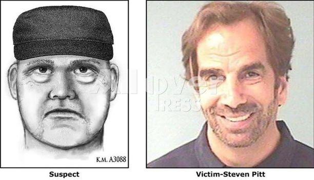 Oletettavasti kaljupäinen, tummaa hattua käyttänyt mies ja oikeuspsykiatri Steven Pitt kävivät lyhyen, kovaäänisen riidan kadulla ennen ampumista.