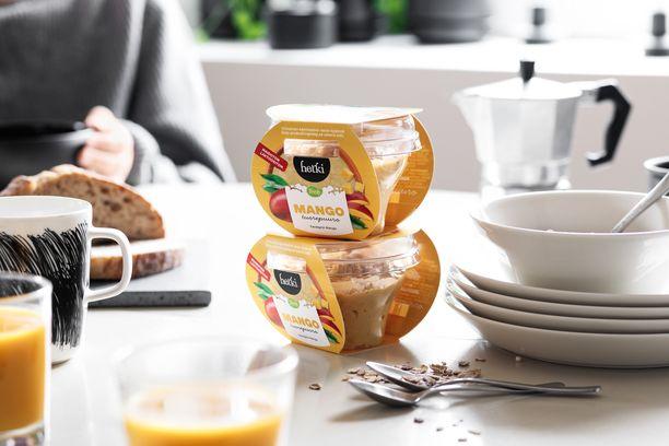 Hetki tuorepuuro maistuu hyvin aamiaisella ja toimii myös kätevänä välipalana.