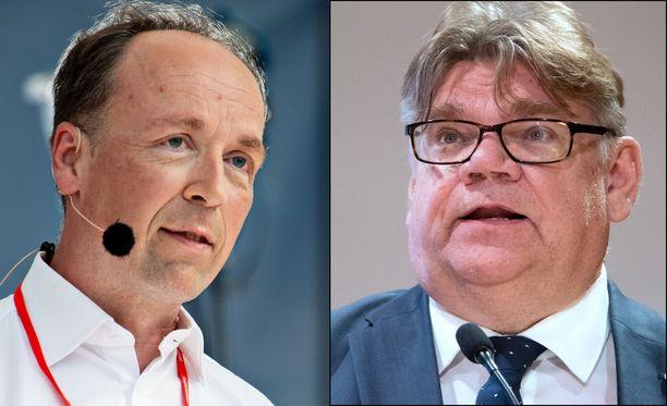 Jussi Halla-aho ja Timo Soini ovat eri mieltä filippiiniläisten hoitajien rekrytoinnista Suomeen.