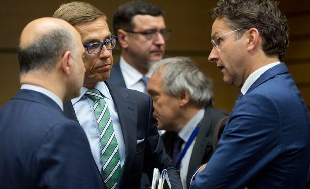 Suomea euroryhmän kokouksessa Brysselissä edustaa valtiovarainministeri Alexander Stubb (kok).