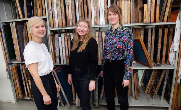 Sandra Virtanen, Miisa Lehto ja Terhi Laine suuntaavat Tukholmaan ja H&M:n harjoittelijoiksi.