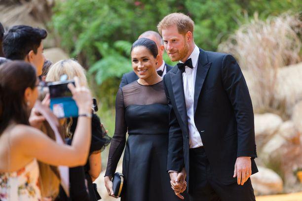 Sussexin herttuapari pysähtyi poseeraamaan valokuvissa.