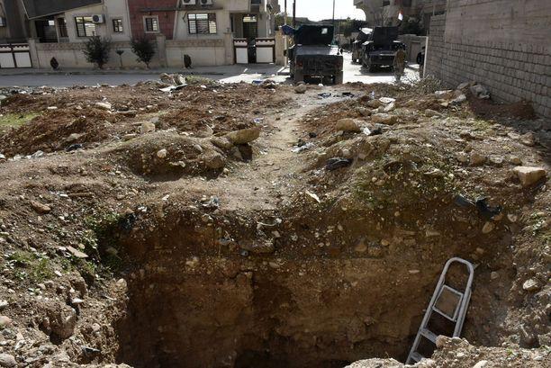 Isisin Mosuliin kaivamia pako- ja siirtymätunneleita löytyy koko ajan lisää.