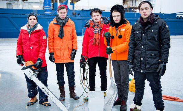 Softengine kuvauksissa jäänmurtaja Nordicalla.