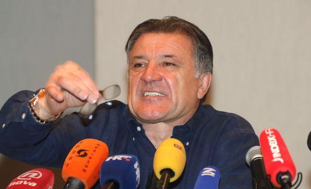 Korruptiotuomion saanut Zdravko Mamic on Kroatian vaikutusvaltaisin jalkapallopomo.