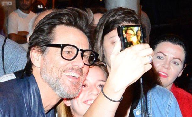 Jim Carrey Emmy-juhlissa viime lauantaina.