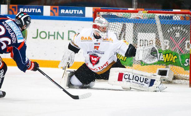 Sami Aittokallio pelasi hyvän ottelun maanantaina Tampereella.