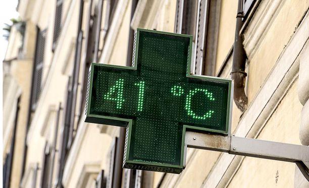 Lucifer-helteen aikana esimerkiksi Italiassa lämpötilat ovat nousseet yli 40 asteen.