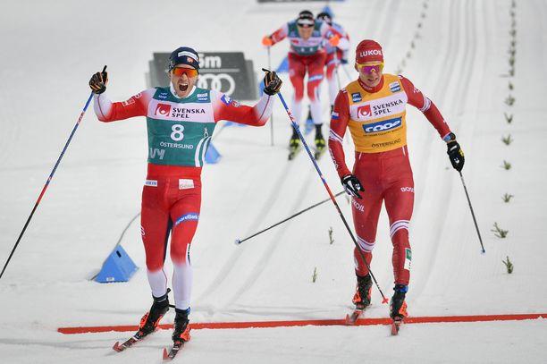 Pål Golberg päihitti Aleksandr Bolshunovin niukasti.