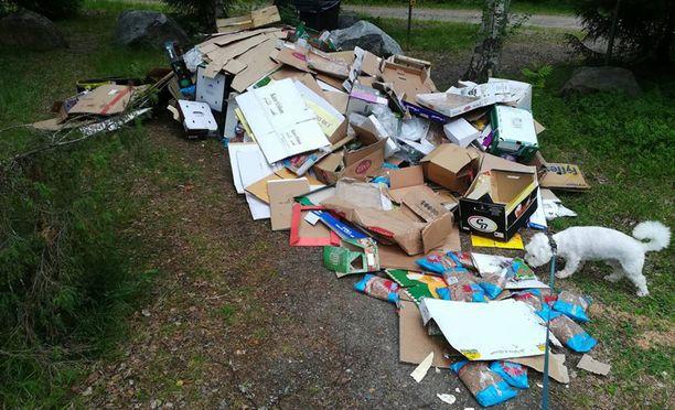 Lemmikkien hautausmaalle oli kipattu jätteitä Pirkanmaalla Kangasalalla.