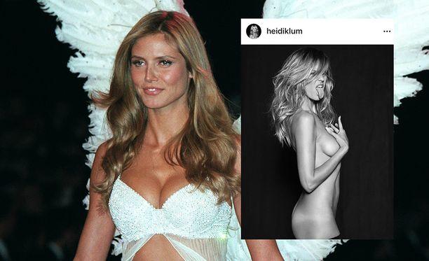 heidi Klum oli itsekin pitkään Victoria's Secret Angel. Hän on myös juontanut useita Victoria's Secret näytöksiä. Heidin muotishowkuva on vuodelta 2000.