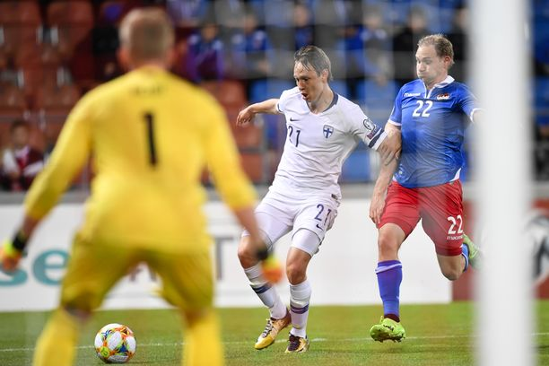 Lassi Lappalainen alusti Suomen 2–0-maalin soolosuorituksellaan.