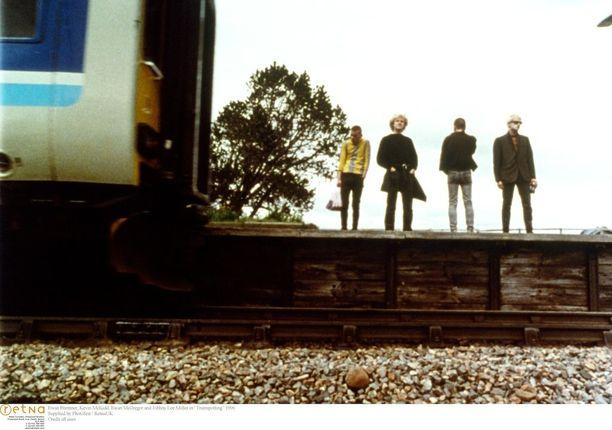 Trainspottingin nuoret näyttelijät vuonna 1996...