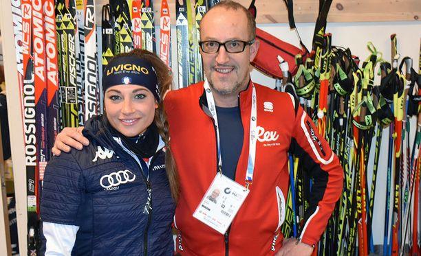 Dorothea Wierer ja italialaissuomalainen Silvano Barco tekevät yhteistyötä.