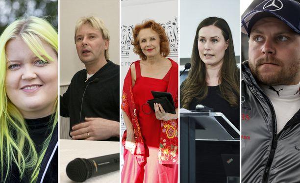 Alma, Matti Nykänen, Kaija Saariaho, Sanna Marin ja Valtteri Bottas kuuluvat maailman mediassa useimmin mainittujen suomalaisten joukkoon.