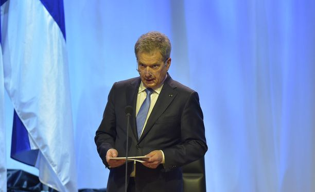 Presidentti Sauli Niinistö puhui valtiopäivien avajaisissa.