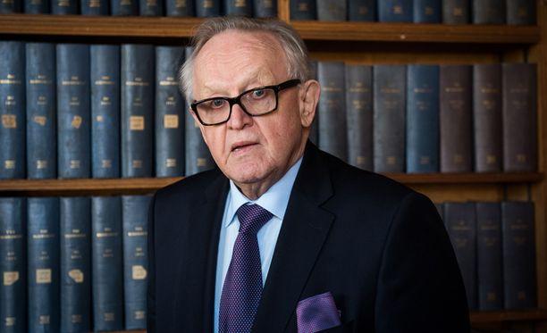 Presidentti, rauhannobelisti Martti Ahtisaari on yksi konferenssin järjestäjistä.