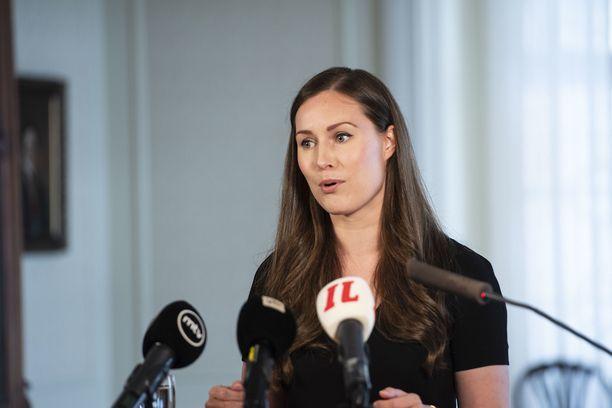 Pääministeri Sanna Marinin (sd).