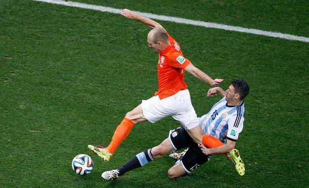 Arjen Robben sai varsinaisen peliajan parhaan hollantilaispaikan.