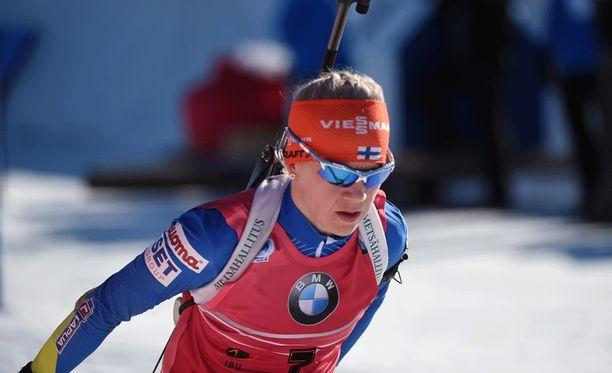 Kaisa Mäkäräinen jäi yhteislähdössä sijalle 15.