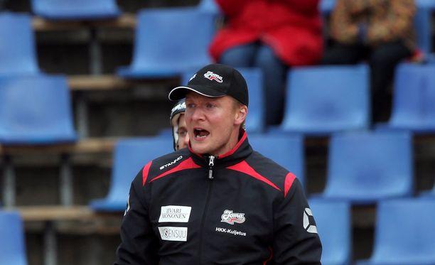 Petri Pennanen oli tyytyväinen joukkueensa esitykseen. Arkistokuva.