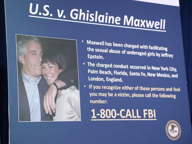 Ghislaine Maxwell ja Jeffrey Epstein yhdessä.