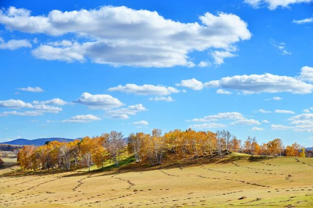 Ruskan värejä Sisä-Mongoliassa.