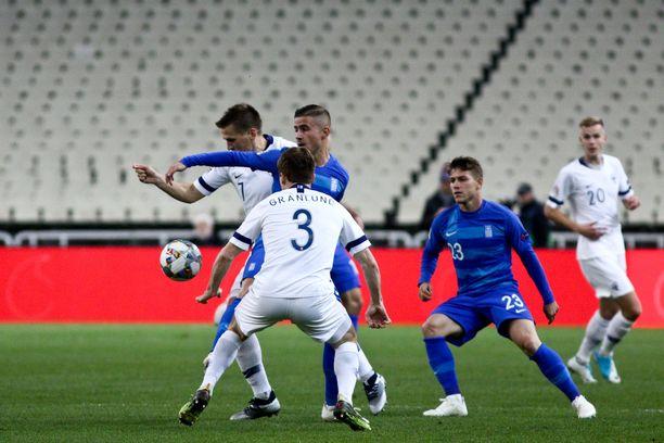 Kreikka kaatoi Suomen 1-0.