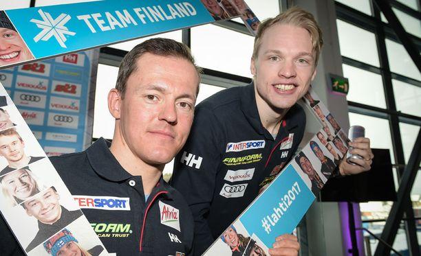 Sami Jauhojärvi ja Iivo Niskanen edustavat tänään Suomea miesten pariviestissä.
