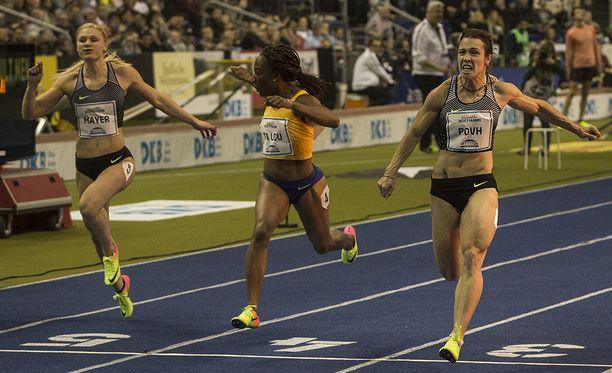 Ukrainan Olesja Povh (oik.) on toinen dopingista epäilty ukrainalaisjuoksija.