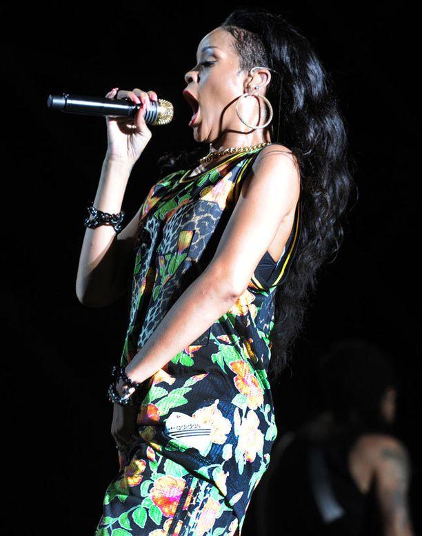 Myös Rihanna luottaa verkkareihin.