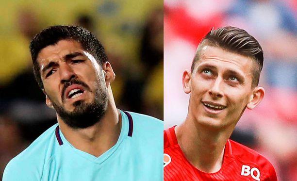 Ilja Kutepovilla (oik.) löytyi ajatus Luis Suarezin pysäyttämiseksi MM-kisoissa.