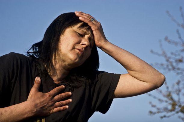 Hengenahdistus ja väsymys rasituksen yhteydessä voivat olla aluksi lieviä.