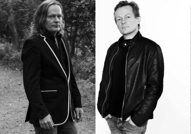 Pepe Johanssonin kuvilla on eroa viisi vuotta. Vasemmalla olevan otoksen aikaan Teleks-laulaja ei ollut vielä löytänyt triathlonia. Oikealla oleva otos on tuore.