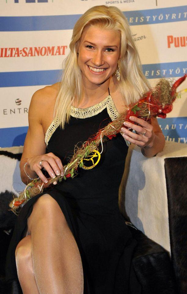 Hanna-Maria Seppälä valittiin vuoden 2008 esikuvaksi Suomen urheilugaalassa tammikuussa.