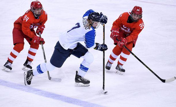 Mira Jalosuo pelasi viimeisen maaottelunsa Pyeongchangin voitokkaassa pronssipelissä venäläisiä vastaan.